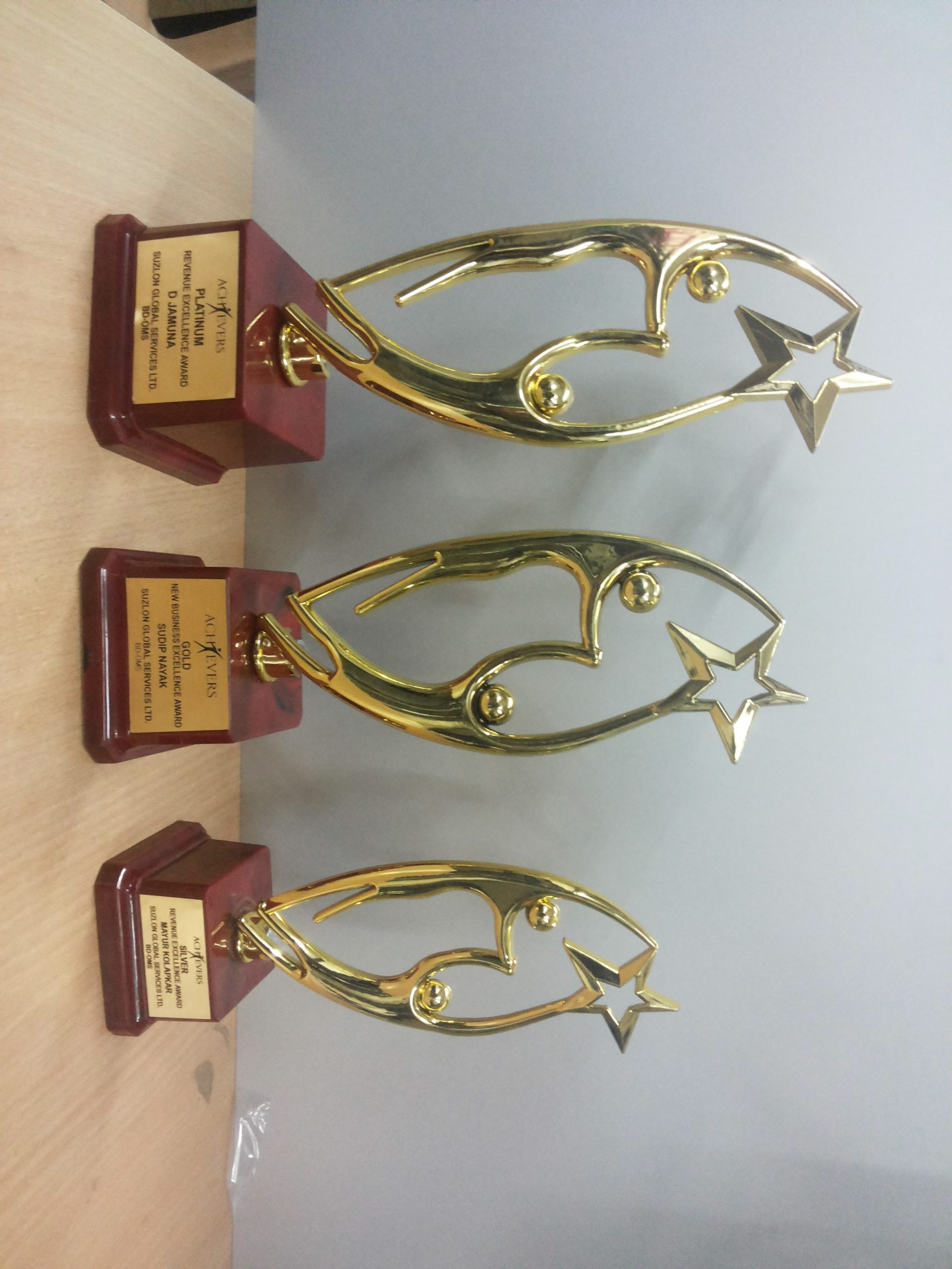 Awards in custom shapes and sizes
