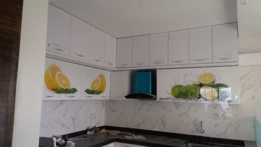 Customised printed acrylic kitchen shutters