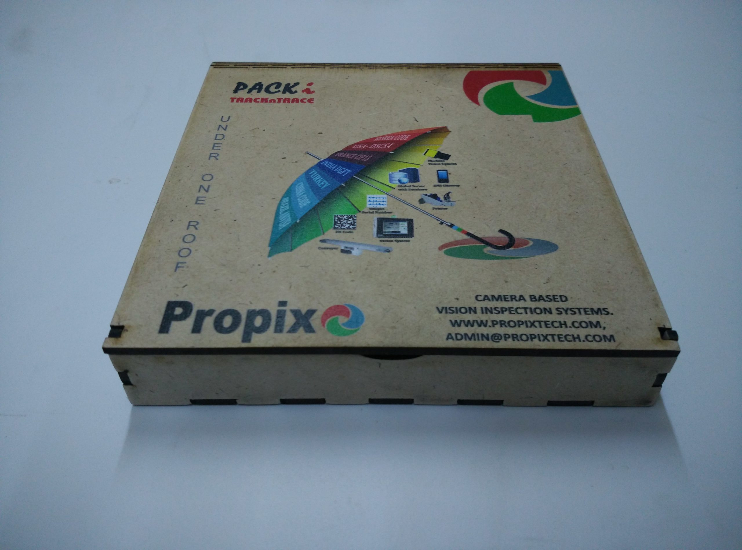 Cutting and Printing on Wooden box