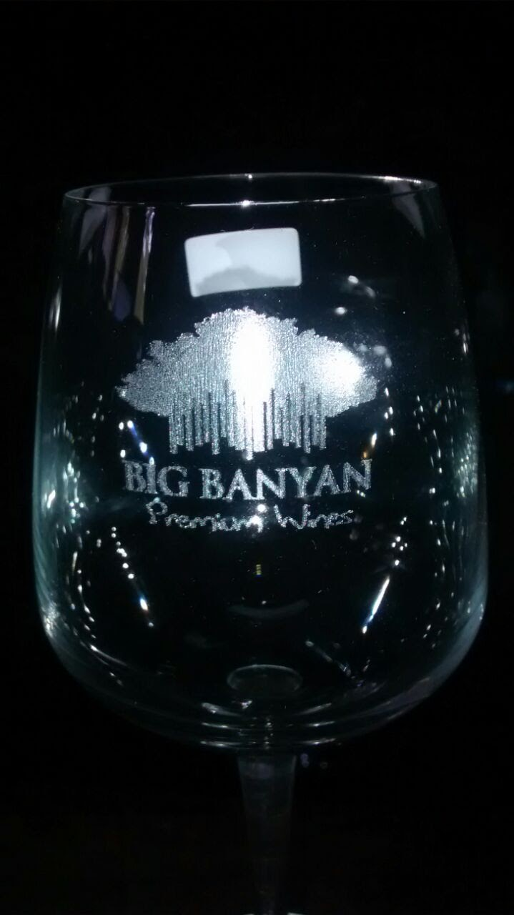 Logo engraving on Wine glass