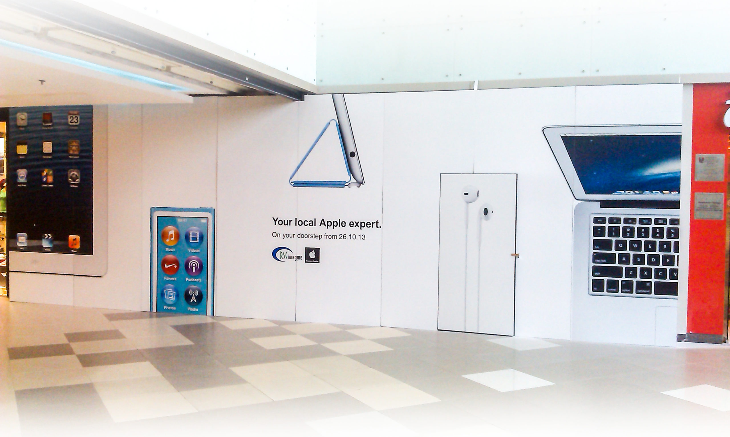 UV printed ACP brand Display in a Mall