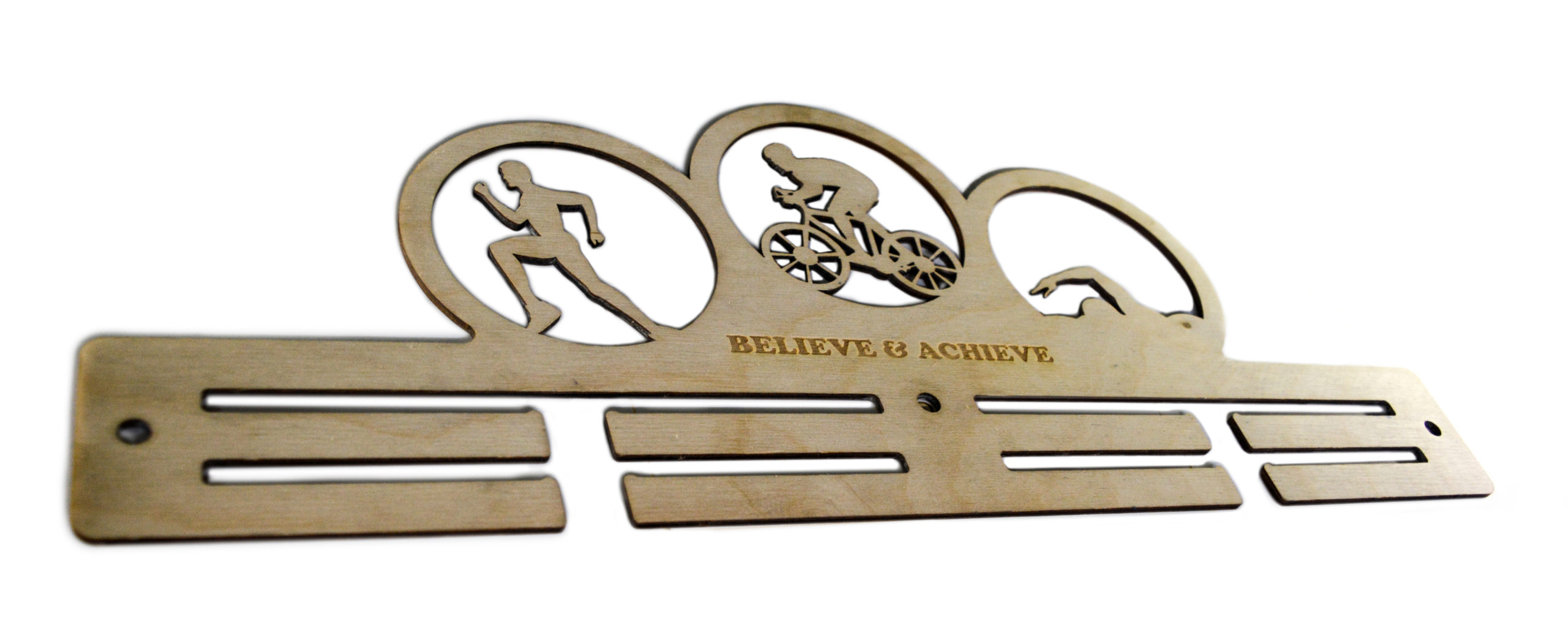 Laser cut and engraved medal hanger