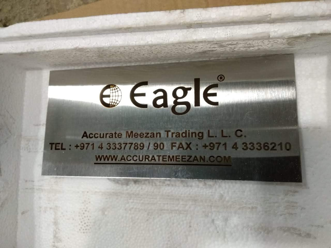 Laser engraved stainless steel plate