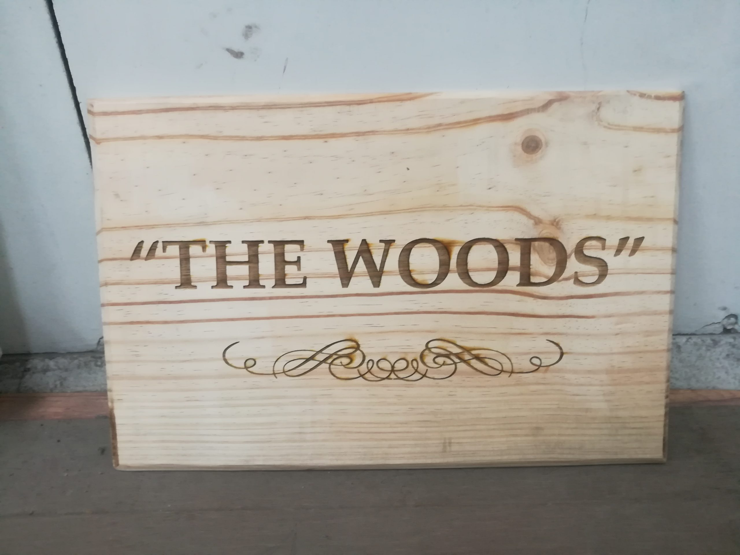 Laser Engraving on Pine Wood