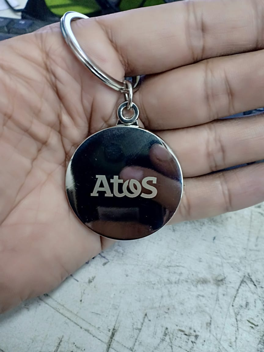 Logo branding on keychain