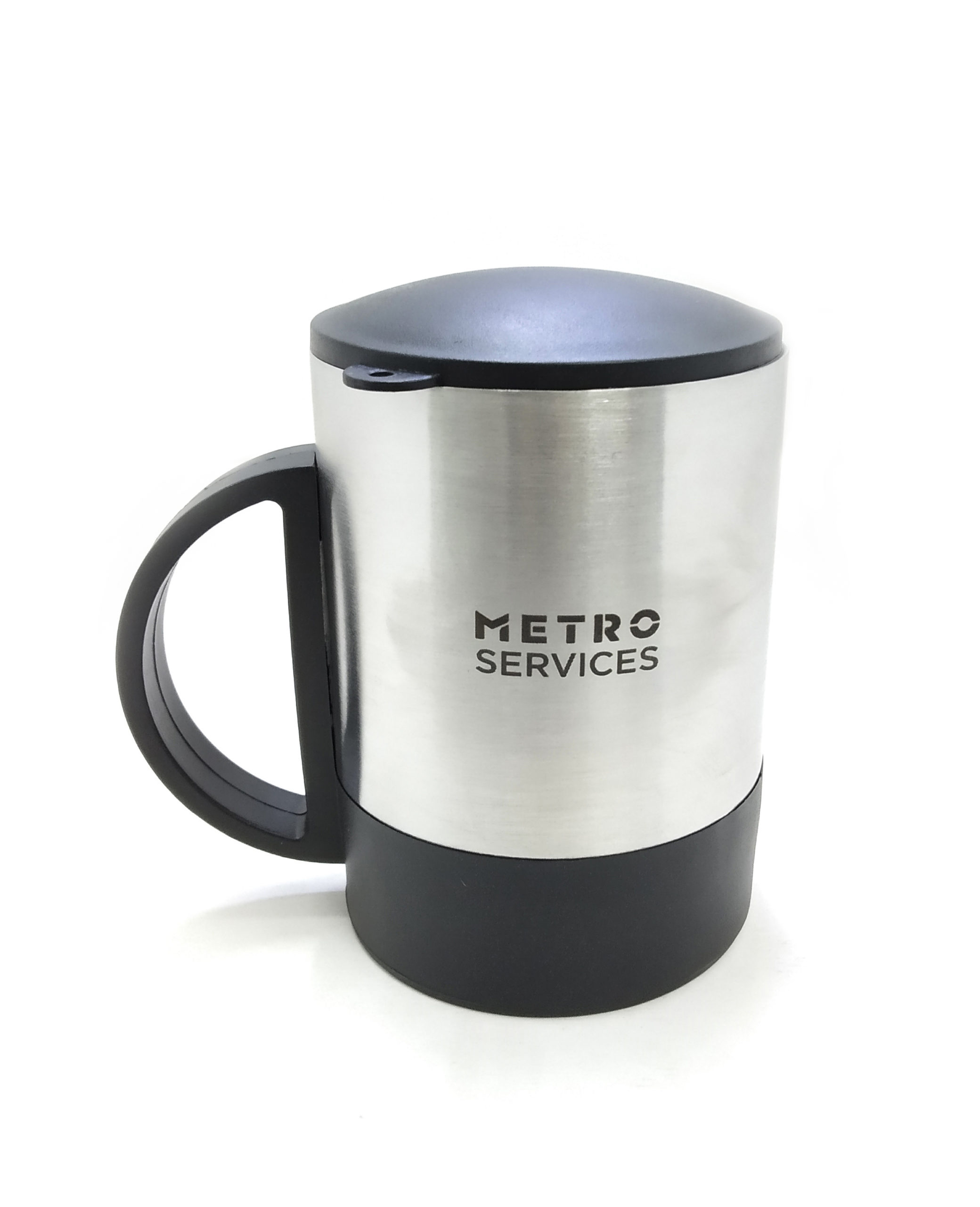 Logo engraving on coffee mug