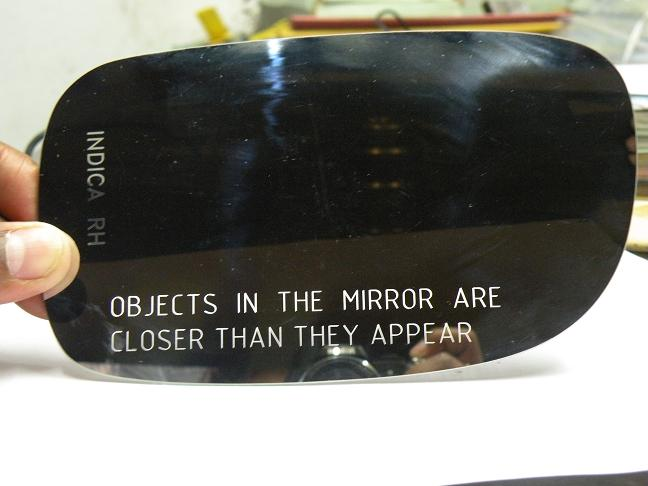 Mirror laser marking