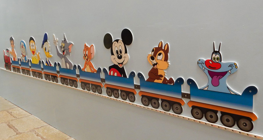 PVC router cut cartoon train