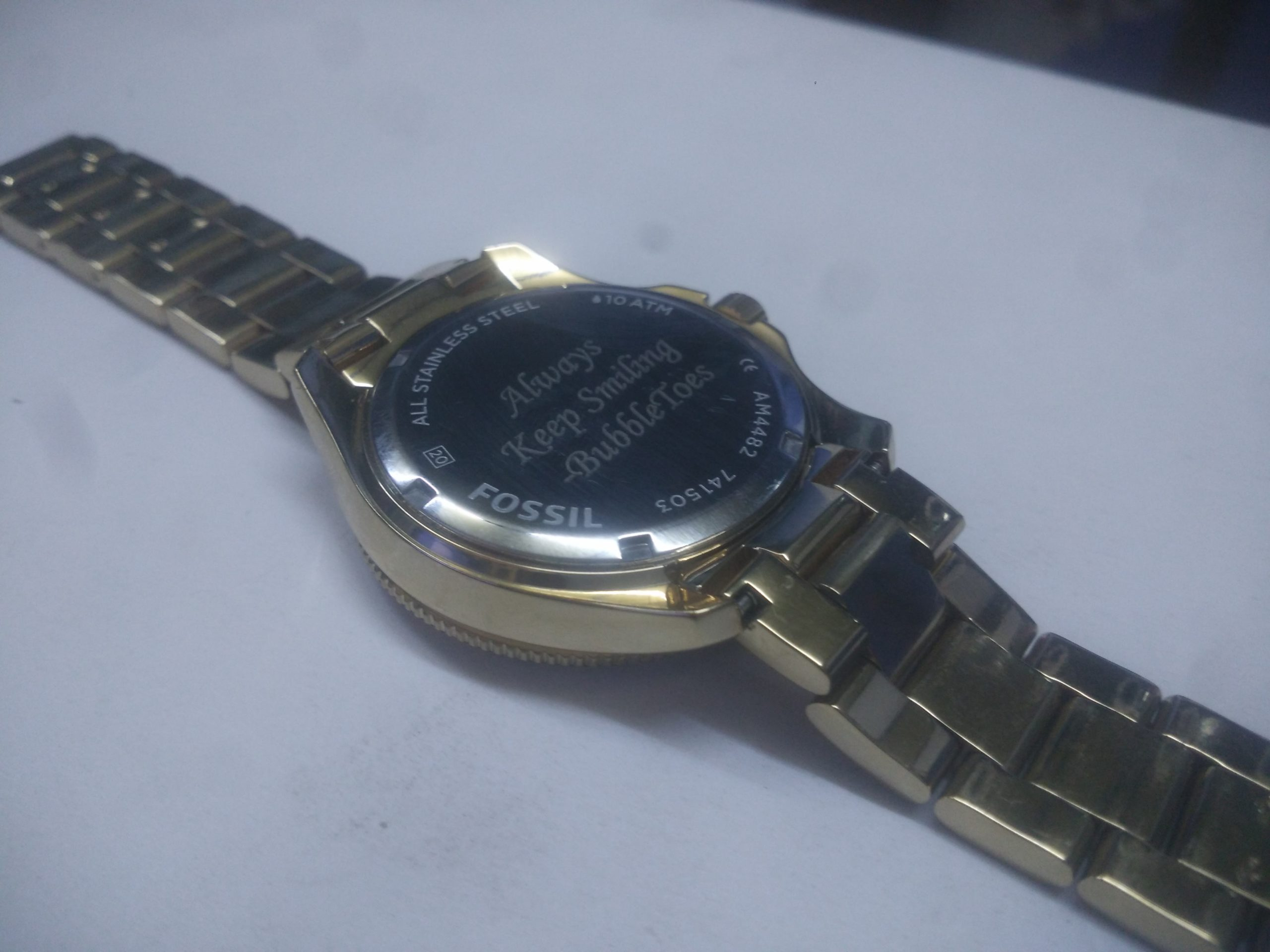 Wrist watch laser marking