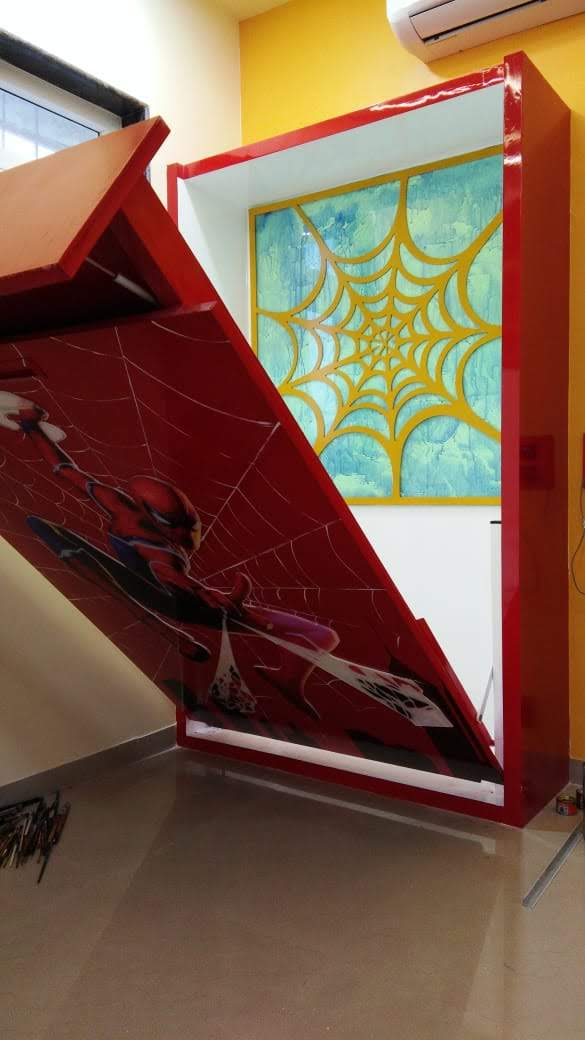 spiderman Childrens bed floding